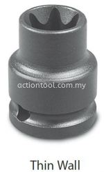 3/8'' Dr.,EXternal Torx Impact Sockets (Thin Wall)