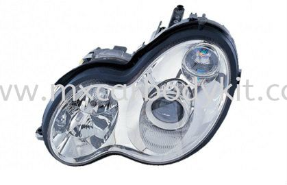 MERCEDES BENZ W203 2000-2006 HEAD LAMP PROJECTOR W/VACUUM HEAD LAMP ACCESSORIES AND AUTO PARTS
