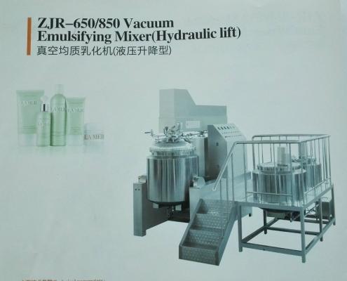 ZJR-650 & 850 Vacuum Emulsifting Mixer (Hydraulic Lift)