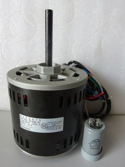 YORK HAF-067 (1PH 1/4HP 140W 6P) INDOOR FAN MOTOR C/W 6UF CAPACITOR - (DCP06CC)