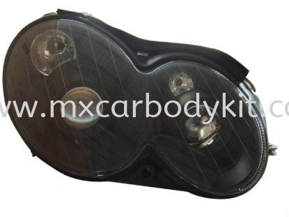 MERCEDES BENZ W209 2003-2009 HEAD LAMP DOUBLE PROJECTOR BLACK HEAD LAMP ACCESSORIES AND AUTO PARTS