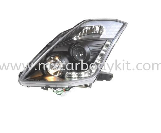 NISSAN FAIRLADY 2003-2008 HEAD LAMP CRYSTAL PROJECTOR BLACK W/DRL HEAD LAMP ACCESSORIES AND AUTO PARTS