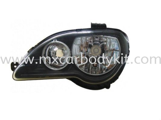 PROTON GEN 2/PERSONA 2005 & ABOVE HEAD LAMP CRYSTAL BLACK W/CCFL HEAD LAMP ACCESSORIES AND AUTO PARTS