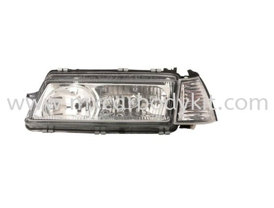 PROTON ISWARA 1992-2007 HEAD LAMP CRYSTAL GLASS LENS W/CORNER LAMP HEAD LAMP ACCESSORIES AND AUTO PARTS