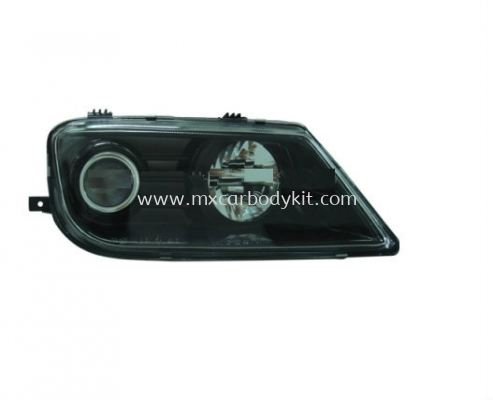 PROTON WAJA 2000 & ABOVE HEAD LAMP CRYSTAL PROJECTOR BLACK CHROME GLASS LENS