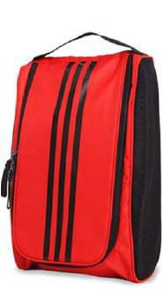 Adidas 3 Stripe Shoe Bag Red