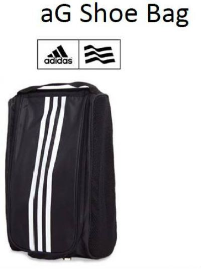 Adidas 3 Stripe Shoe Bag Black