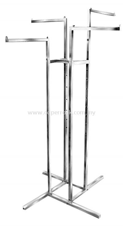 4 Way Metal Stand (Chrome)