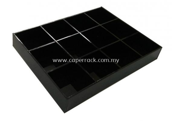 Acrylic 12 Compartment (Black)