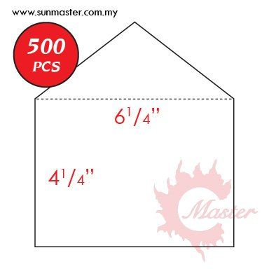 "6 1/4"" x 4 1/4"" White Envelope"