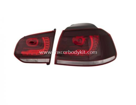 VOLKSWAGEN GOLF 2008 & ABOVE R STYLE REAR LAMP CRYSTAL LED