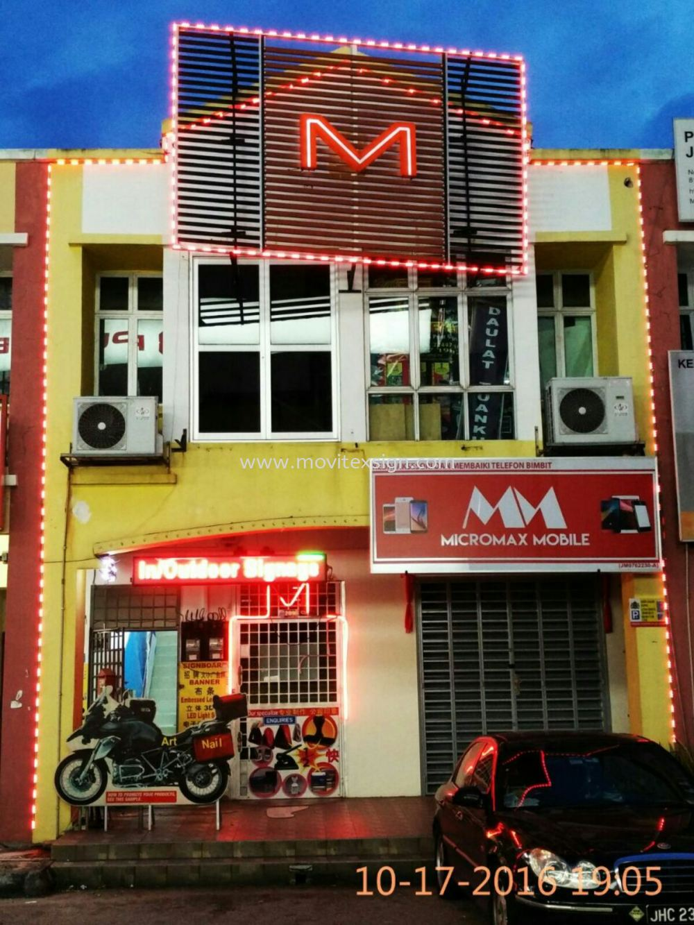 led border lighting with 3D Arcylic letters 3D Embossed Lettering Sign Johor Bahru (JB), Johor, Malaysia. Design, Supplier, Manufacturers, Suppliers | M-Movitexsign Advertising Art & Print Sdn Bhd