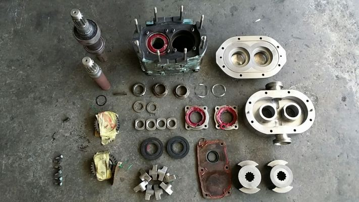 Parts Refurbishment: Pump end cover, rotor, housing, main housing, etc