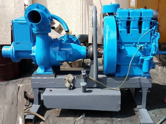 "6"" WATER PUMP POWERED BY DIESEL AIR-COOLED ENGINE ID001020"