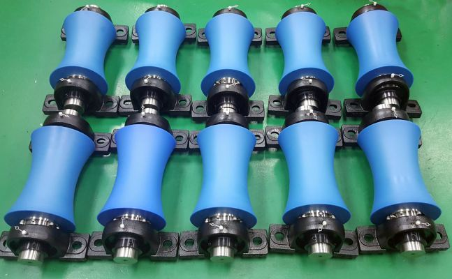 Row of Nylon Guide Rollers