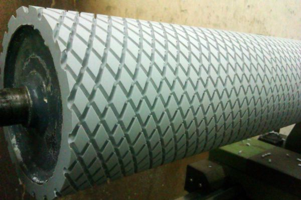 Rubber Roller With Diamond Square