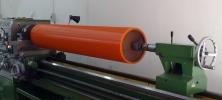 Pinch roller on Lathe machine Polyurethane Specialist