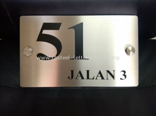 STAINLESS STEEL NUMBER PLATE