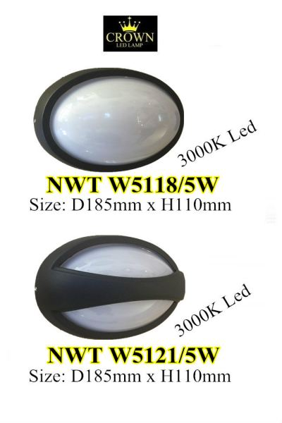 CROWN LED D185MM X H110MM 5W OUTDOOR WALL LIGHT