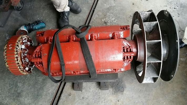 Weld repair crack at aluminum fan