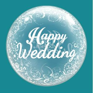 "18"" Clear Balloon - H.Wedding 2117 0405 03"