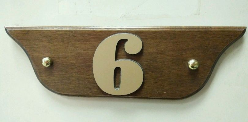 wooden Number Plate NP-05