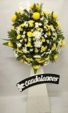 Funeral Chrysanthemum Arrangement (FA-142) Sympathy / Condolences Flower Arrangement Funeral Arrangement