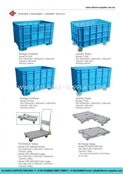 Storage Container/ Laundry Trolley/ Platform Trolleys