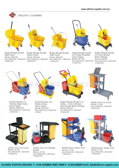 Cleaning Buckets/ Janitor Carts