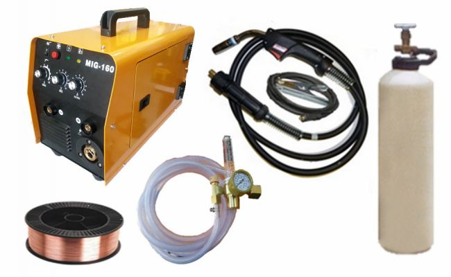 2 FUNCTION INVERTER WELDER & MIG 160 WELDING SET