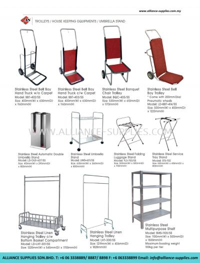 Trolleys/ House Keeping Equipments/ Umbrella Stand