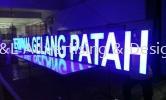 Gelang Patah LED 3D Signage Front Lit LED 3D Signage