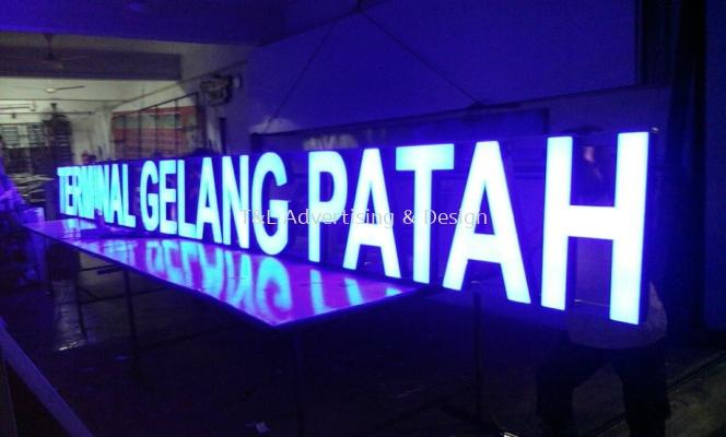 Gelang Patah LED 3D Signage Front Lit