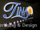 Tina Floral LED 3D Signage Front Lit LED 3D Signage