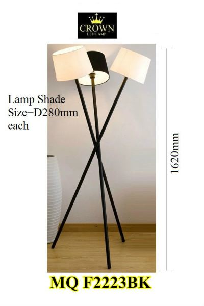 CROWN MQF2223BK Stand Lamp