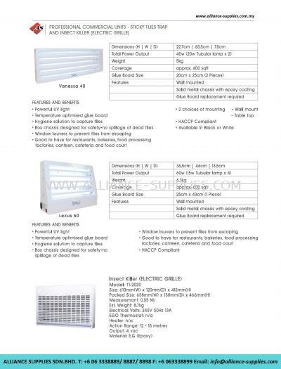 Professional Commercial Units - Sticky Flies Trap And Insect Killer (Electric Grille)