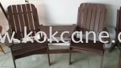 Outdoor Wooden-Double Seather Curve Outdoor Wooden Chair and Table Outdoor Wooden Furniture