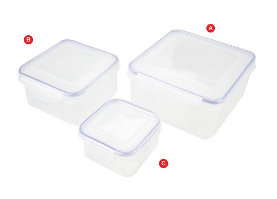 Air tight food container 3 in 1 ATLB318
