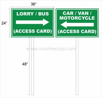 corporate signboard n logo with Direction signboard