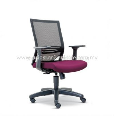 RELEASE LOW BACK MESH CHAIR WITH FASHIONABLE STYLISH PP ARMREST ASE-2614
