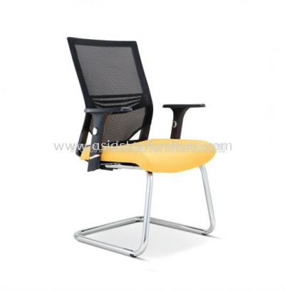 RELEASE VISITOR CHAIR WITH ADJUSTABLE COMBINATION CHROME AND PP ARMREST ASE-2616