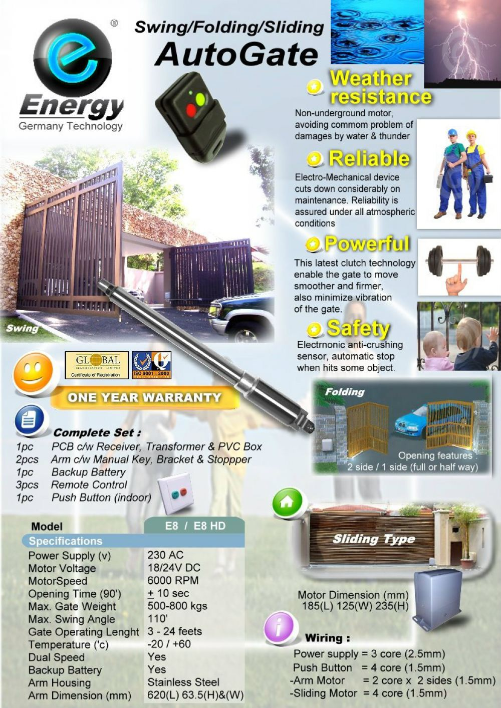 Energy Arm Type  Energy Autogate Auto Gate System Selangor, Malaysia, Kuala Lumpur (KL), Subang, Puchong Supplier, Supply, Supplies, Installation | The One Control