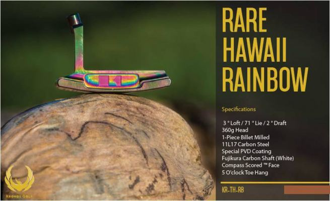 Kronos Rare Hawaii Rainbow Putter