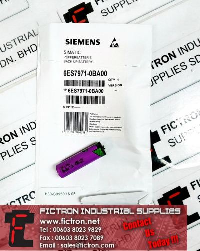 6ES7971-0BA00 SIEMENS SIMATIC PLC Back-up Battery SL-360 TADIRAN Battery Supply Malaysia Singapore Thailand Indonesia Philippines Vietnam Europe & USA