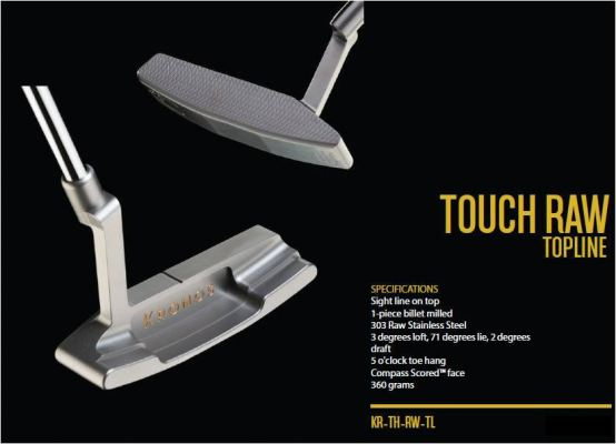 Kronos Touch Raw Topline Putter