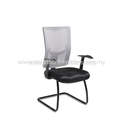 MELBY VISITOR MESH CHAIR WITH STEEL BASE & BACK SUPPORT-AMB-P3