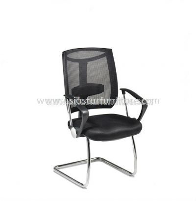 JENKAL VISITOR MESH CHAIR WITH CHROME BASE & BACK SUPPORT-AJK-C3