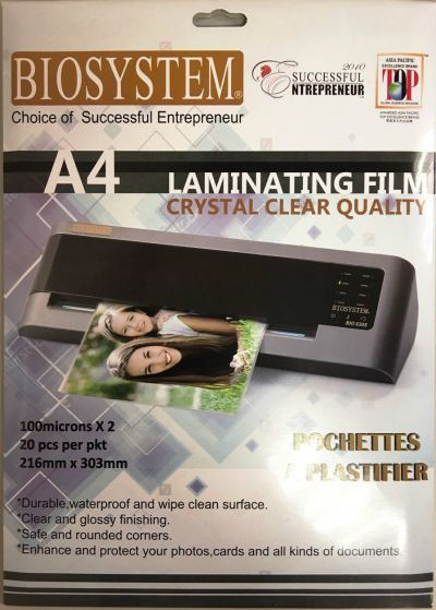 A4 Laminating Film Biosystem(20pcs/pkt)
