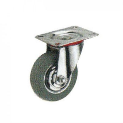Swivel Caster with Grey Rubber Wheel