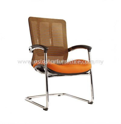 FUTURE VISITOR MESH CHAIR WITH CHROME BASE & BACK SUPPPORT AFT-3L